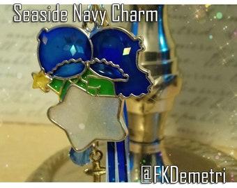 Seaside Navy Resin Charm Kawai Cute Decoden Fantasy Art Phone Charm Bag Charm