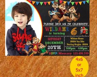 Chipmunk Birthday Invitation, Chipmunk Invitation, Chipmunk Birthday, Chipmunk Party, Chipmunk Printable, Instant Download