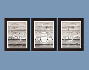 Shabby Chic Decor, Shabby Chick Wall Art, Airplane Decor, Aviation Wall Art, Boys Bedroom Wall Art, Airplane Nursery Decor,