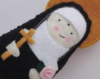 Saint Rita of Cascia....Felt Softie