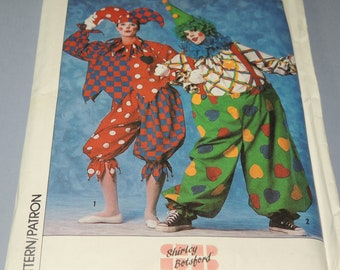 Uncut M Jester or Clown Costume Pattern Simplicity 9344