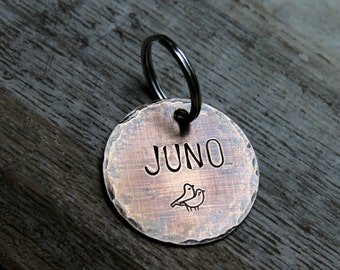 """Customize your own Pet ID tag in 1.25"""" Bronze - Pick your Font and Stamp"""