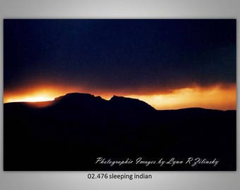 02.476 Sleeping Indian Limited Edition, Signed and Numbered 8x10 Image