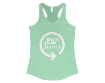 Healing Is Not Linear Racerback Tank