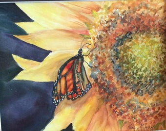 Tasting The Sunshine (original watercolor)