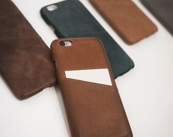 iPhone 6 / 6s Leather Phone Case Card Holder Wallet Slim
