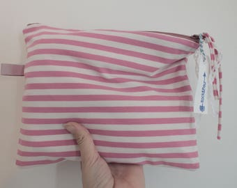 Pocket jersey pink stripes