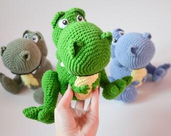 Crochet PATTERN No 1701 Rex Tyrannosaurus by Krawka