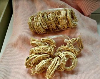 """20 tiny BLEACHED GRAPEVINE WREATHS 2"""" craft supplies small"""