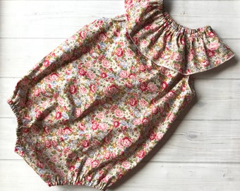 Seaside Playsuit - Vintage Floral - made to order