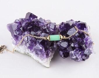 Dainty Gemstone Bracelet, Gold Tiny Cylinder Gemstone Bracelet, Stone Bracelet, Horizontal Gemstone Bracelet,  Layered Bracelet,Gift for Her