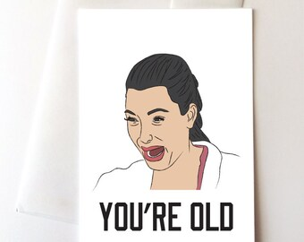 Kim Kardashian Birthday Card