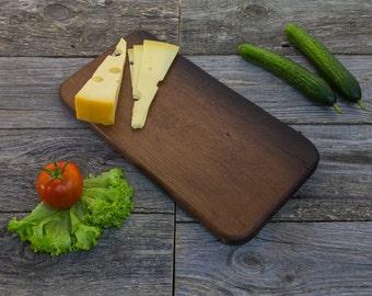 Wood Cutting Board - Bog Oak Hand Crafted Cheese Board / Chopping Board /  Kitchen Serving Board / Gift Board / Appetizer Platter CBBO026