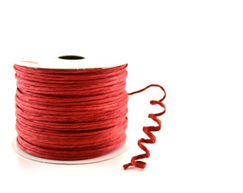 Paper Cord Red Wired Flexible Tourbillon Craft Cord 10 yards