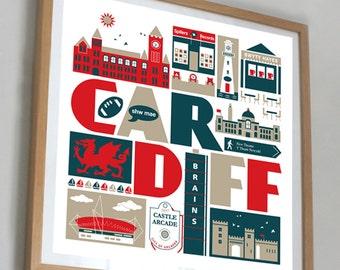 Cardiff Wales print