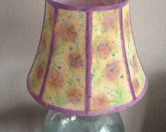 Original, One of a Kind, Watercolor Painted Lampshade!
