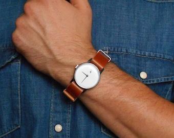 "Soviet watch""Pobeda"", Russian watch  ,Mens watch, Black White Watch ,minimalist watch, watch men , classic watch ,"