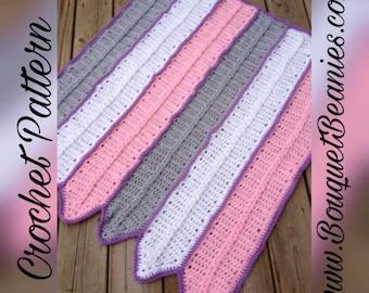 PDF Crochet Pattern - The Braided Blanket