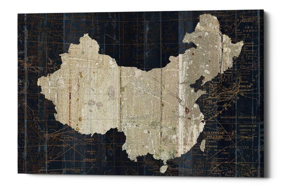 Giclee canvas wall art old world map china gumiabroncs Gallery