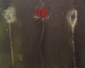 oil painting abstract rose flower  - Flitter