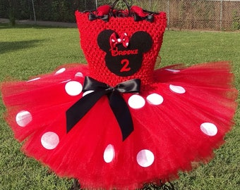 SALE!! Minnie Mouse Tutu Dress with Personalization