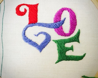 Embroidery - LOVE