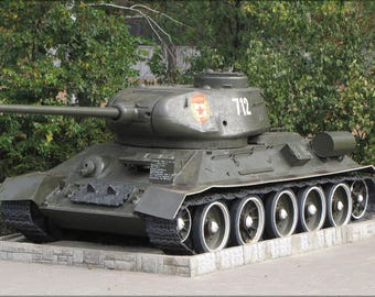 Poster, Many Sizes Available; Russian Soviet T-34 Tank