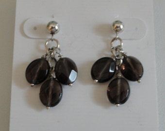 Smokey Quartz Earrings  -  #402