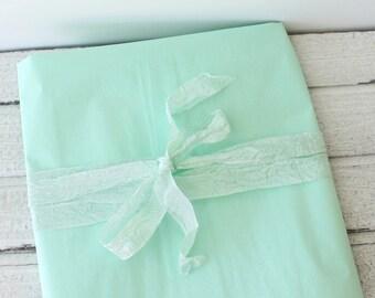 Tissue Paper, Mint Green Tissue Paper, Mint Green Gift Wrap, DIY Mint Wedding, DIY Pom Pom, Packaging, Craft Supplies, Mint Wedding Decor