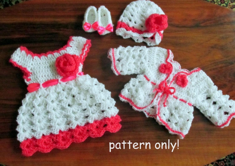 infant dress pattern crochet pattern hat kids crochet pattern ...