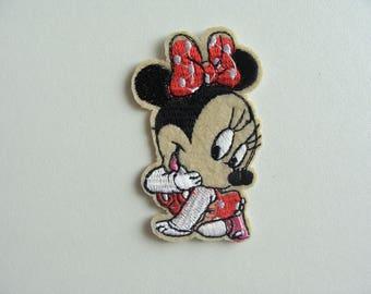 applique girl mouse thermocollante 6.8 * 4 cm