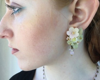 ROSEWATER DROP EARRINGS Created by Vintage Jewelry Designer Colleen Toland