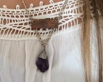 Amethyst Wanderlust Necklace - Bohemian Crystal Necklace