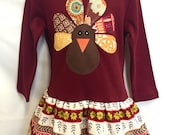 Turkey Dress Girls with Matching Leg Warmers- Thanksgiv...