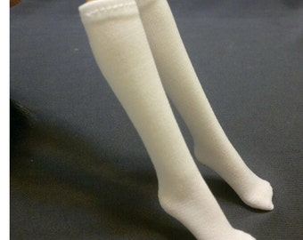 Dolls sock/stockings for Monster high/Barbie/Muse barbie doll - White No.709