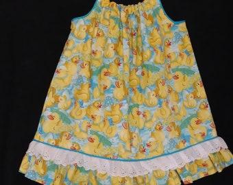 4T/5T  Ducks with Umbrellas Summer Dress