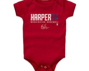Bryce Harper Baby Clothes | Washington Baseball | Baby Romper | Bryce Harper Harper34 W Wht