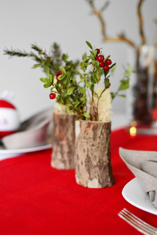 Easter table decor birch vase rustic wedding decor log rustic home decor five wooden cylinder vases 5 log vases christmas wedding decor reviewsmspy