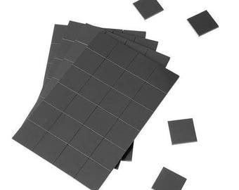 1 x 1 Inch Strong Flexible Self-Adhesive Magnetic Squares, Peel & Stick Refrigerator Magnet Squares (96 Pieces)