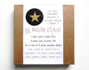 My Stardust - 78 stickers stars gold pouch