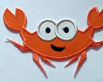 DIY Iron On Applique Patch,  Happy Crab