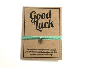 Good luck wish charm bracelet