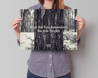 """Poster """"What the Tree Remembers"""""""