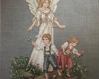 APRILSALE Vintage Leisure Arts Guardian Angel Book 2 counted cross stitch leaflet 2346