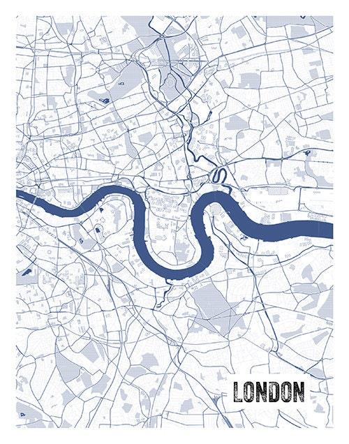 London england uk blueprint map portrait poster art print several london england uk blueprint map portrait poster art print several sizes available malvernweather Choice Image
