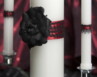 Gothic Romance Wedding Unity Candle Set - 351315