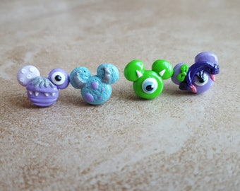 Monsters Inc. Clay Mouse Inspired Earrings
