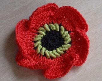 Crochet Flower (Poppy) in 2-3/4 inches YH-191-0
