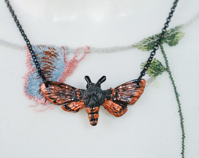 Moth Necklace-Copper 4.5 cm
