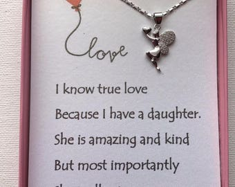 Love heart necklace w/ love poem for your daughter